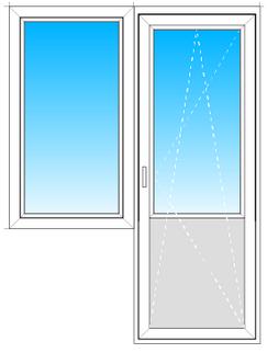 Балконный блок из профиля VEKA