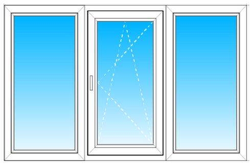 Двухстворчатое окно decco