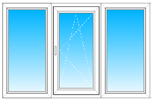 Двухстворчатое окно VEKA в комнату