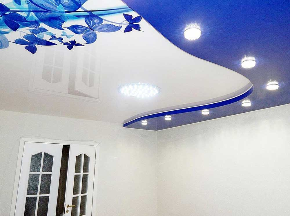 Французский потолок с фотопечатью