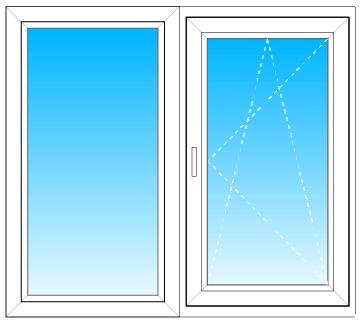 Одностворчатое окно decco на кухню