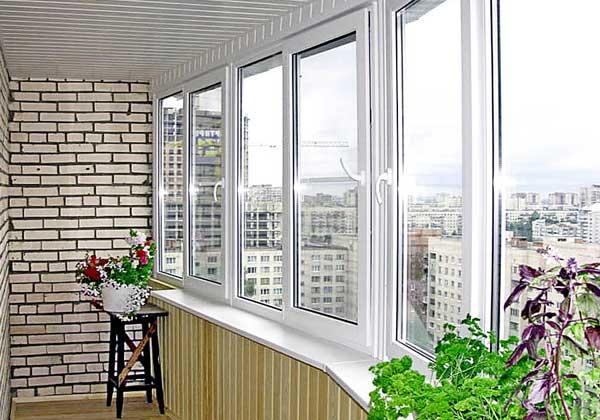 Остекление балконов профилем veka